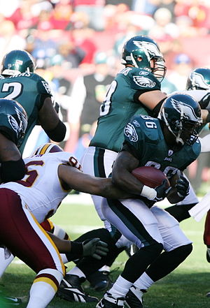 Brian Westbrook - Westbrook with the ball in a game against the Redskins.