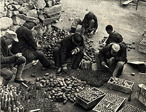 Stielhandgranate - Chinese workers making their own design of the Model 24 Stielhandgranate by hand (known as the 'Type 23' during World War II)