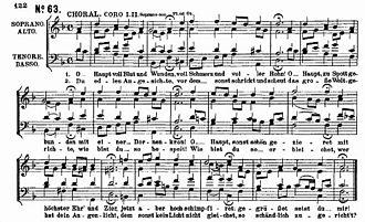 """St Matthew Passion - """"O Haupt voll Blut und Wunden"""", vocal score"""