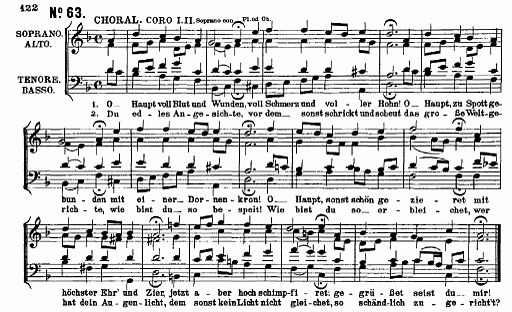 Bach Matthäuspassion O Haupt voll Blut und Wunden