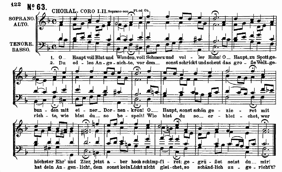 Bach Matth%C3%A4uspassion O Haupt voll Blut und Wunden