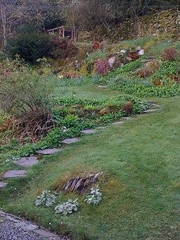 Back garden at Dove Cottage - geograph.org.uk - 1291435