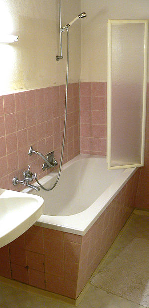 Shower - A combination shower and bathtub