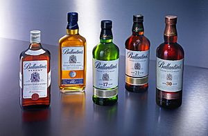 Ballantine's - Five of Ballantine's whiskies, in a photo released by Pernod Ricard