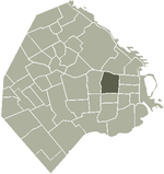 Location of Balvanera within Buenos Aires