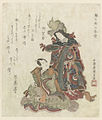Bandô Mitsugorô III in de rol van Urashimatarô en Segawa Kikunojô V als de dochter van de Drakenkoning-Rijksmuseum RP-P-1991-647.jpeg