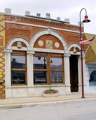 Gentry, Arkansas - The historic Bank of Gentry building was built in 1904 and added to the National Register of Historic Places (NRHP) in 1988.
