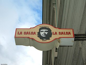 Che Guevara in popular culture - A Cuban restaurant in Riga, Latvia.