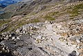 Bare rock slabs on the descent from Scafell Pike - geograph.org.uk - 1331327.jpg
