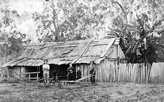 Logan City - Bark dwelling at Logan Village