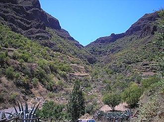 Guayadeque ravine - Image: Barranco Guayadeque hacia la isla