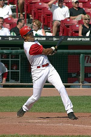Barry Larkin, Cincinnati Reds, 2004, by Rick D...