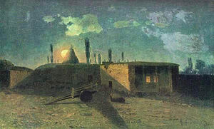 Khachatur Abovian - Painting in 1884 by Gevorg Bashinjaghian of the house where Abovian was born