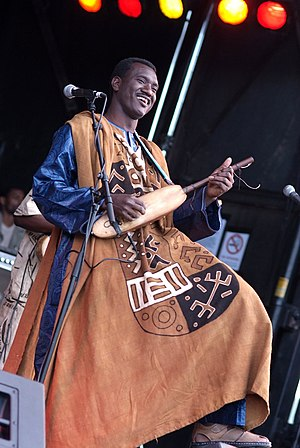 Ngoni (instrument) - Bassekou Kouyate performing on a jeli ngoni