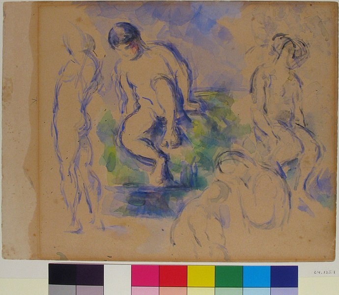 File:Bathers (recto) ; Still Life (verso) MET 64.125.1.jpg
