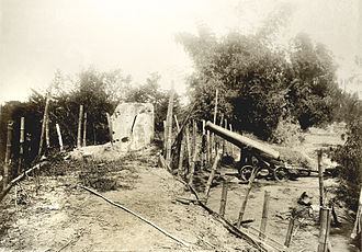 Battle of Zapote River - The smoothbore cannon used by the Filipinos and left during their withdrawal