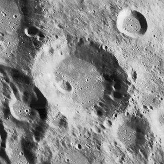 Bayer (crater) - Lunar Orbiter 4 image
