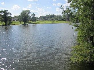 University of Louisiana at Monroe - Bayou Desiard crosses the ULM campus.