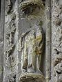 Bazas (33) Cathédrale Saint-Jean-Baptiste Façade ouest Portail central 3ème voussure 03.JPG