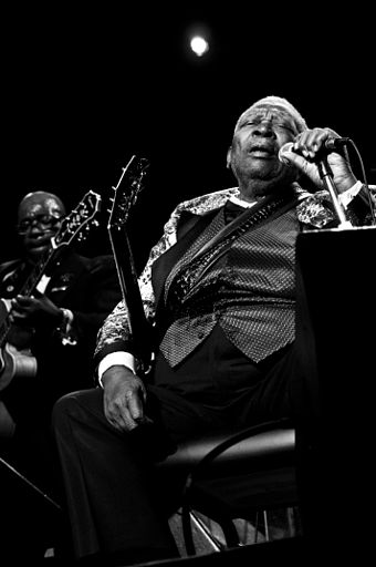 "American musician B.B. King is known as the ""King of the Blues"". Bbking (300dpi).jpg"