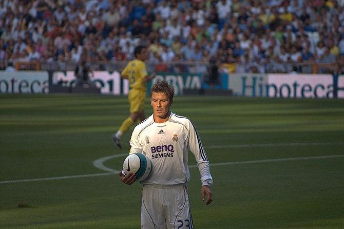 Beckham's last season in Real Madrid