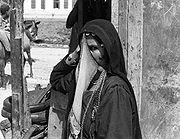 A veiled Arab woman in Bersheeba, Israel.