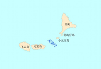 Location of 元宝岛