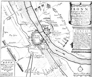 Siege of Bonn (1703) - A plan of Bonn in 1703.