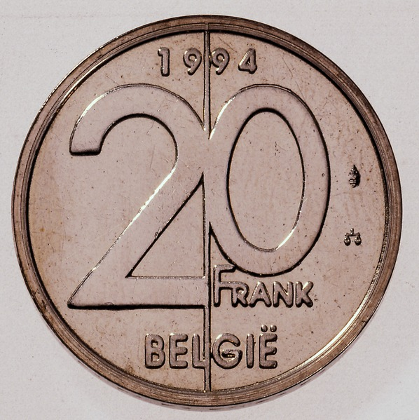 Belgian coin of 20 francs Albert II in Dutch - reverse