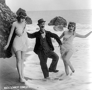 Ben Turpin - Ben Turpin (center) with two of the Sennett Bathing Beauties