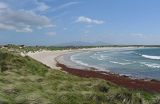 Benbecula - Beach (Cula Bay) on the west coast of Benbecula looking towards South Uist