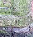 Bench mark on the Rose and Crown - geograph.org.uk - 2225617.jpg