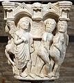 Benedetto antelami, capitello con storie della genesi 02, dal duomo di parma, 1178, cacciata dal paradiso trrestre.jpg