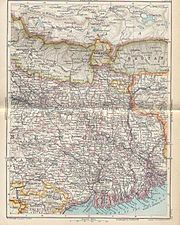 Map of the Bengal province, 1893