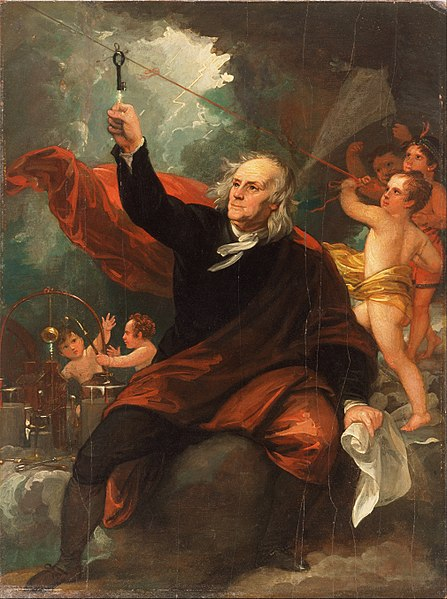 File:Benjamin West, English (born America) - Benjamin Franklin Drawing Electricity from the Sky - Google Art Project.jpg