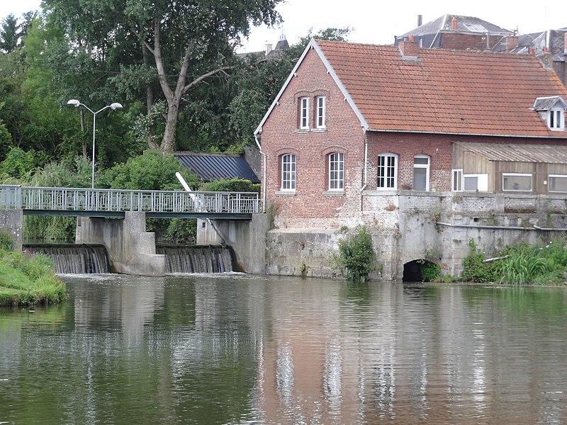 Berlaimont (Nord, Fr) Moulin sur la Sambre