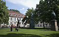 Berlin- A woman playing with her dog in Bebelplatz - 3822.jpg
