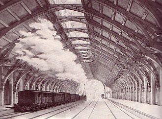 Berlin–Hamburg Railway - The 148 metre-long train hall in Hamburg