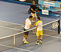 Bernard Tomic and Leonardo Mayer (8985207782).jpg