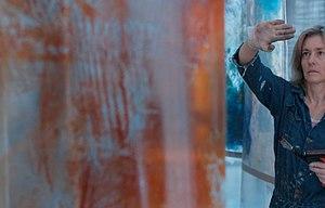 Beverly Barkat - Beverly Barkat in her studio, in Jerusalem