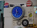 Bicycle clock art at Bikespot bike shop in Anacortes (29431314121).jpg