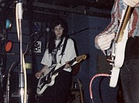 Bilinda Butcher on stage in 1989