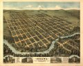 Bird's-eye view of Ottawa, the largest city of its age in Kansas, 1872 - looking south-west LOC 99443775.tif