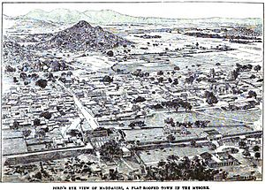 Madhugiri - Image: Bird's Eye View of Maddagiri, A Flat Roofed Town in Mysore (p.121) Copy