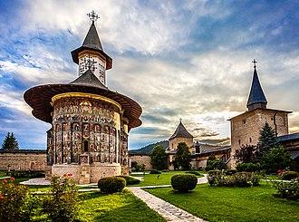 Sucevița Monastery - The church and the courtyard of Sucevița Monastery