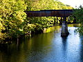 Blackstone River & Canal upstream view from Canal Street Bridge.JPG