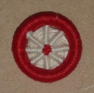 Dorset button - 'Blandford Cartwheel' button