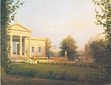 Schloss Charlottenhof, 1829 (Quelle: Wikimedia)