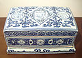 Blue and white porcelain box with Arabic and Persian inscriptions Zhengde 1506 1521.jpg