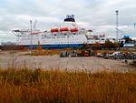 Bluefort at Quay 40A in Lahesuu sadam Tallinn 16 October 2016.jpg